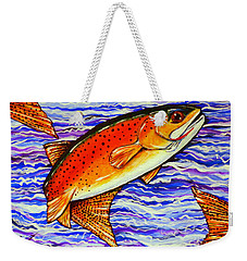 Yellowstone Cutthroat Weekender Tote Bag by Jackie Carpenter
