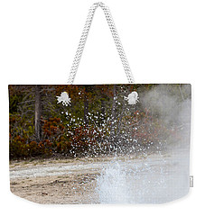 Weekender Tote Bag featuring the photograph Yellowstone Geyser by Michael Chatt