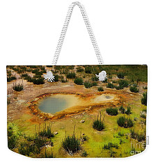 Yellowstone Hot Pool Weekender Tote Bag by Ausra Huntington nee Paulauskaite