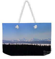 Weekender Tote Bag featuring the photograph Yellowstone Lake And The Tetons  #5479 by J L Woody Wooden
