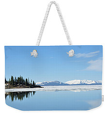Yellowstone Lake In The Spring Weekender Tote Bag