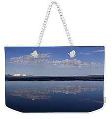 Weekender Tote Bag featuring the photograph Yellowstone Lake Reflection by J L Woody Wooden