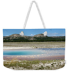 Weekender Tote Bag featuring the photograph Yellowstone Landscape by Laurel Powell