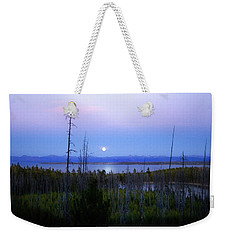 Yellowstone Moon Weekender Tote Bag by Ann Lauwers