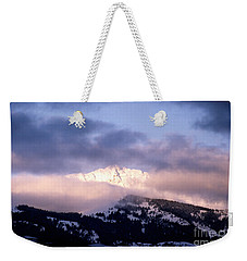 Weekender Tote Bag featuring the photograph Yellowstone Morning by Sharon Elliott