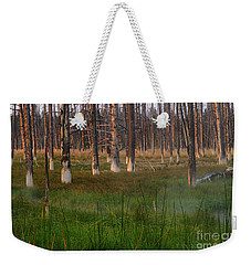 Yellowstone Mysterious Morning Weekender Tote Bag by Teresa Zieba