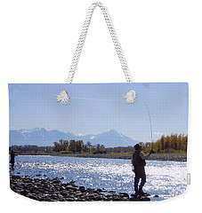 Yellowstone River Fly Fishing Weekender Tote Bag