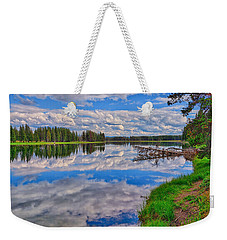 Yellowstone River Reflections Weekender Tote Bag