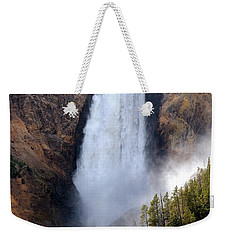 Weekender Tote Bag featuring the photograph Lower Yellowstone Falls by Athena Mckinzie