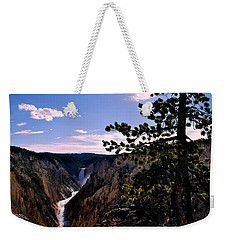 Weekender Tote Bag featuring the photograph Yellowstone Waterfall by Matt Harang