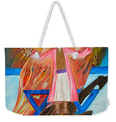 Weekender Tote Bag featuring the painting Yeshua by Cassie Sears
