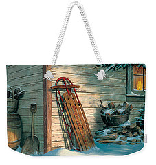 Weekender Tote Bag featuring the painting Yesterday's Champioin by Michael Humphries