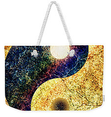 Yin Yang Weekender Tote Bag by Ally  White