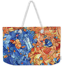 Weekender Tote Bag featuring the painting Yin-yang by James W Johnson