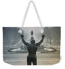Weekender Tote Bag featuring the photograph Yo Adrian by Bill Cannon