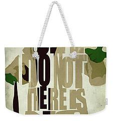 Yoda - Star Wars Weekender Tote Bag by Ayse Deniz