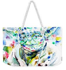 Yoda Watercolor Portrait.1 Weekender Tote Bag