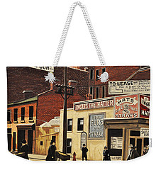 Weekender Tote Bag featuring the painting Yonge And Richmond Streets 1899 by Kenneth M  Kirsch