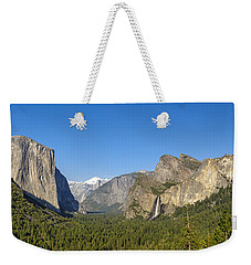 Weekender Tote Bag featuring the photograph Yosemite Valley Moonrise by Steven Sparks