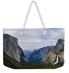 Yosemite Valley Panoramic Weekender Tote Bag by Bill Gallagher