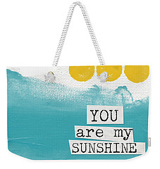 You Are My Sunshine- Abstract Mod Art Weekender Tote Bag