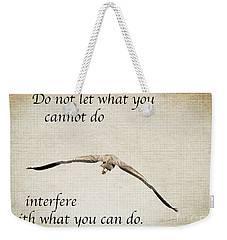 You Can Do It  Weekender Tote Bag by Kerri Farley