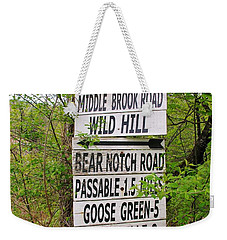 Weekender Tote Bag featuring the photograph You Can Get There From Here by Sherman Perry