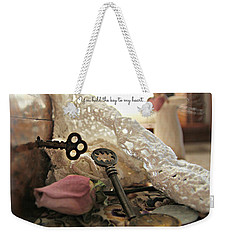 You Hold The Key To My Heart Weekender Tote Bag by Katie Wing Vigil
