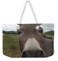 Weekender Tote Bag featuring the photograph You Looking At My Woman by Peter Piatt