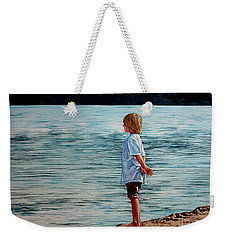 Young Lad By The Shore Weekender Tote Bag