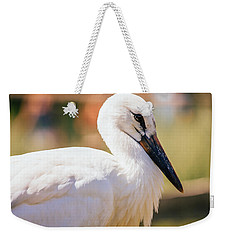Young Stork Portrait Weekender Tote Bag by Pati Photography