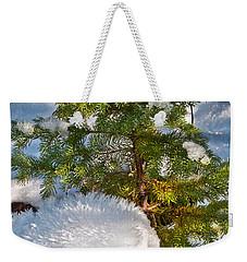 Young Winter Pine Weekender Tote Bag