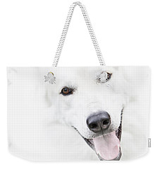 Weekender Tote Bag featuring the digital art Young Wolf by Erika Weber