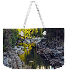 Yuba River Twilight Weekender Tote Bag