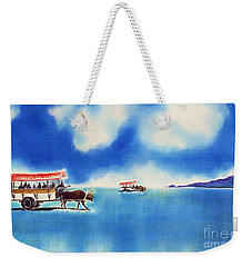 Yubu Island-water Buffalo Taxi  Weekender Tote Bag