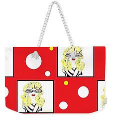 Yuk Weekender Tote Bag by Ann Calvo