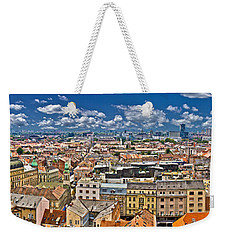 Zagreb Lower Town Colorful Panoramic View Weekender Tote Bag
