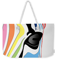 Zebra 1 Weekender Tote Bag by Mark Ashkenazi