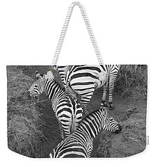 Zebra Design Weekender Tote Bag by Carol Walker