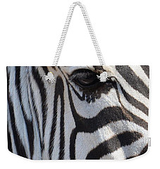 Zebra Eye Abstract Weekender Tote Bag