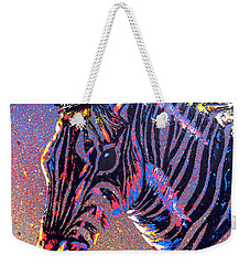 Zebra Fantasy Weekender Tote Bag by Mayhem Mediums