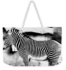 Weekender Tote Bag featuring the photograph Zebra by Kristine Merc