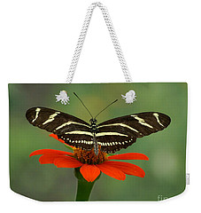 Zebra Longwing Butterfly Weekender Tote Bag