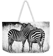 Zebra Love Weekender Tote Bag by Adam Romanowicz