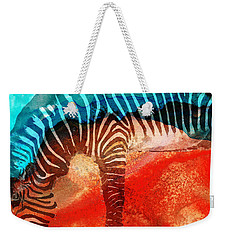 Zebra Love - Art By Sharon Cummings Weekender Tote Bag by Sharon Cummings