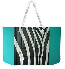 Zebra Stripe Mural - Door Number 1 Weekender Tote Bag by Sean Connolly