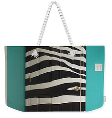 Zebra Stripe Mural - Door Number 2 Weekender Tote Bag by Sean Connolly