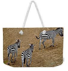Zebra Tails Weekender Tote Bag