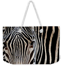 Zebras Face To Face Weekender Tote Bag