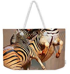 Zebras Fighting Weekender Tote Bag